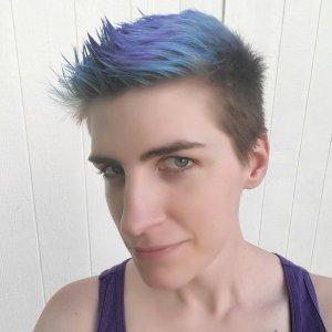 profile pic blue hair